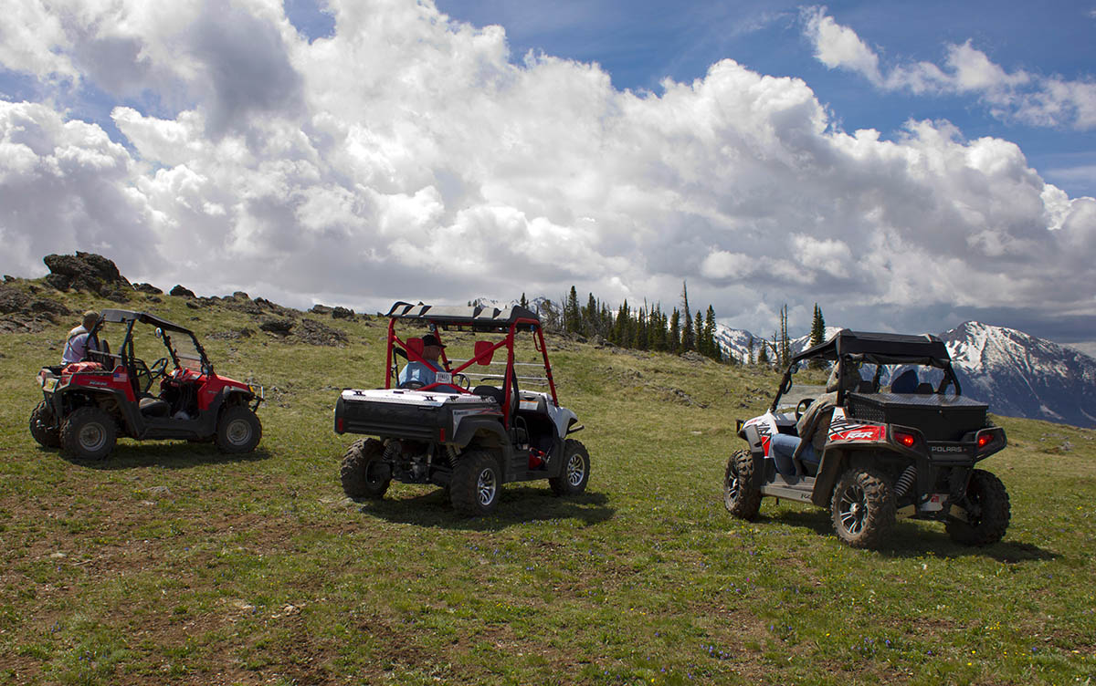 UTVs on Top of Divide